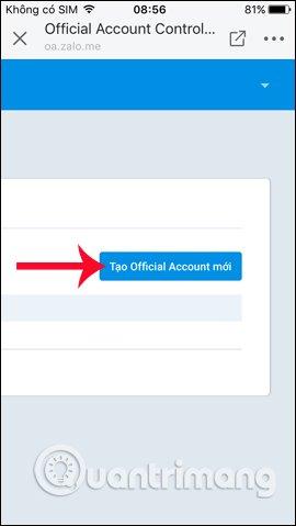 Tạo tài khoản Official Account