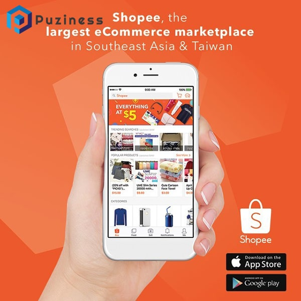 Ứng dụng bán hàng online shopee