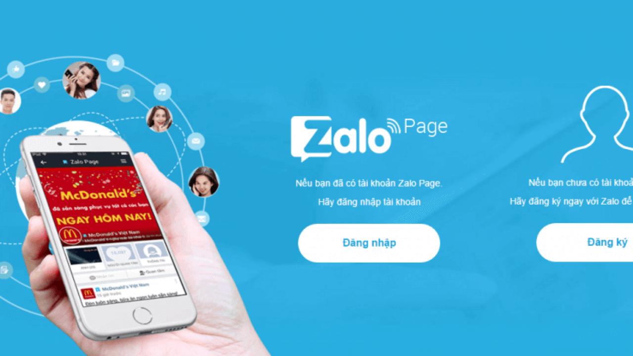 Kinh doanh trên Zalo Page