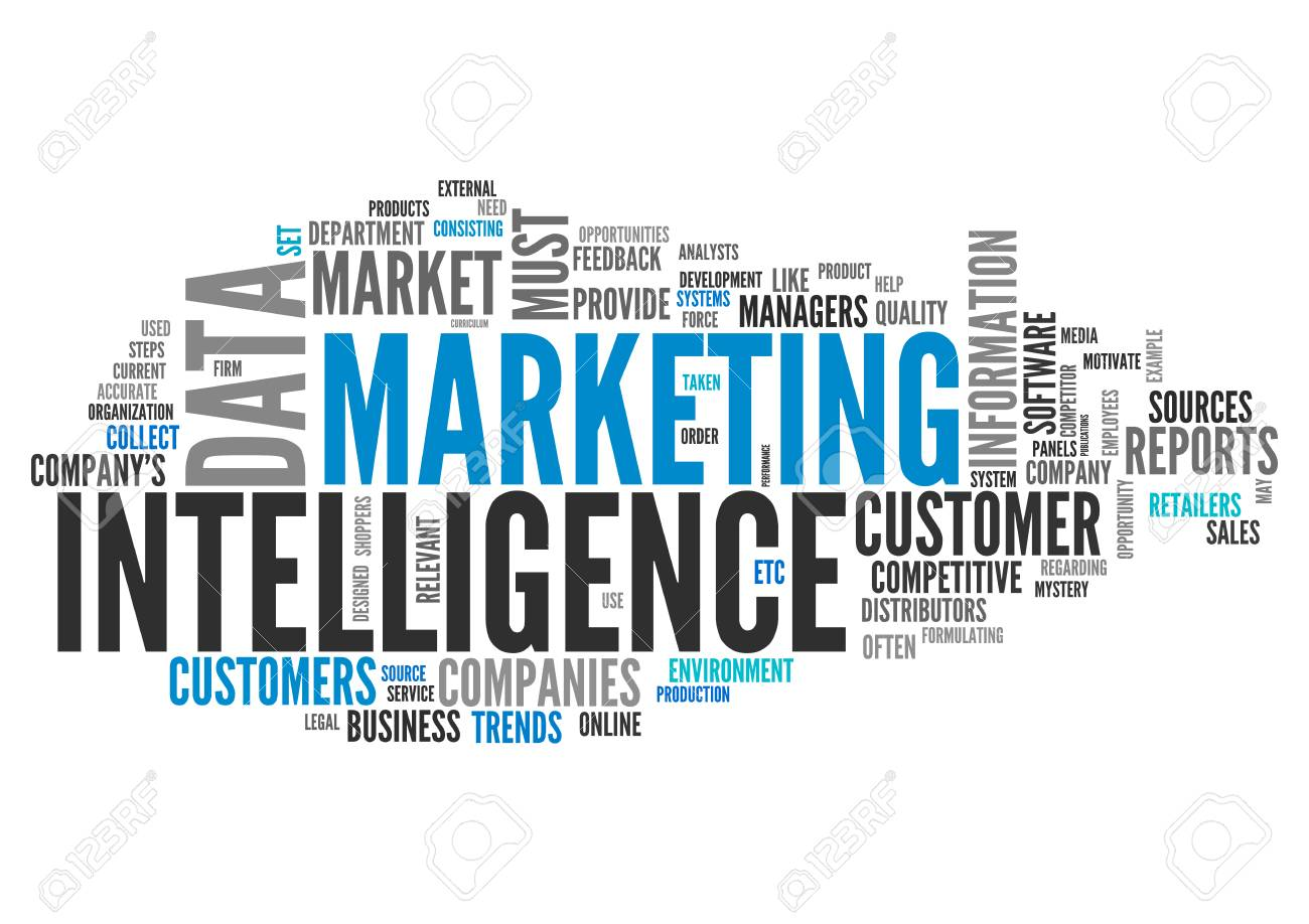 Word Cloud With Marketing Intelligence Related Tags Stock Photo, Picture  And Royalty Free Image. Image 50108230.